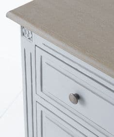 French House handpainted chest of drawers - Gris and Elm